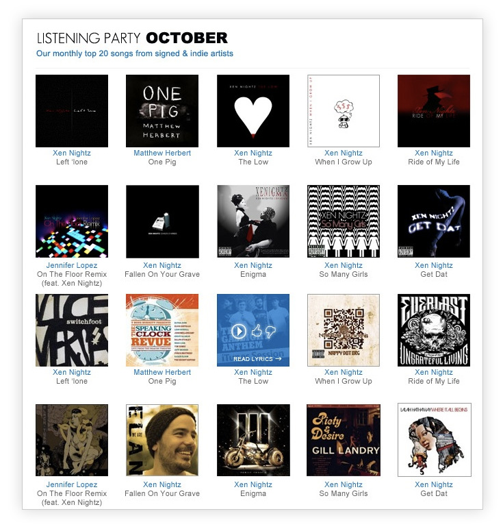 listening party Redesigning SongLyrics.com